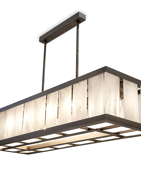 Facet Chandelier Rectangular