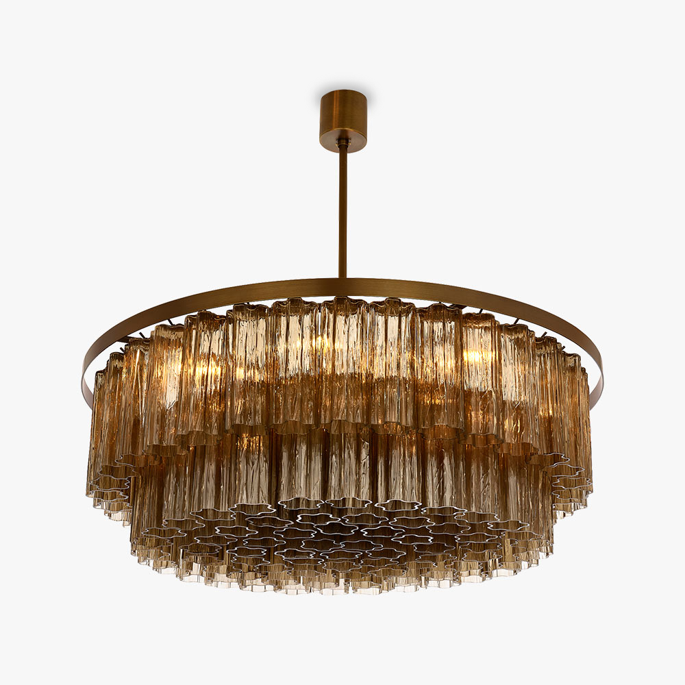 Pentagon Double Drum Chandelier