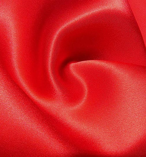 Crepe Satin Silk-1806W - 80X Red