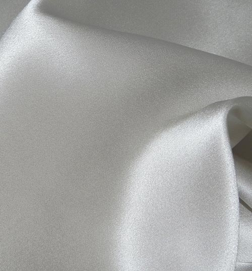 Crepe Satin Silk-1806W - 4501 Platinum