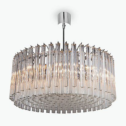 Concave Drum Chandelier