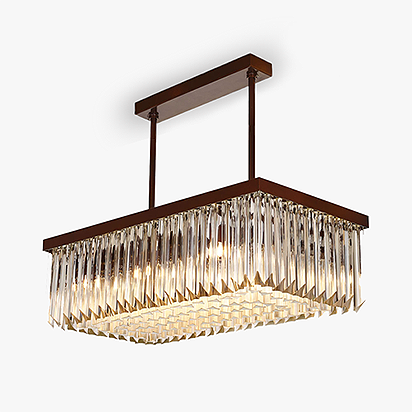 Large Rectangular chandelier