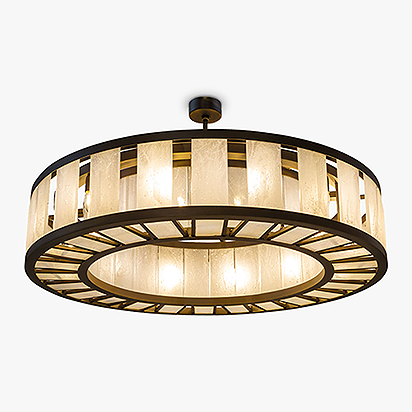 Facet Chandelier Round